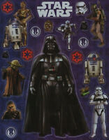 STAR WARS - 2 PLANCHES DE STICKERS / AUTOCOLLANTS - NEUF SOUS BLISTER
