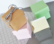 Pink DIY Cube Candy Mint Favor Gift Box Wedding Birthday Bridal Baby Shower