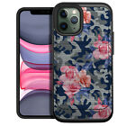 Case For [iPhone 12/ iPhone 12 Pro][EMBOSSED DUO SET16] Dual Layer Floral Slim