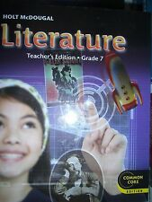 Middle school literature fiction hardcover textbooks educational holt mcdougal literature grade 7 teachers ed common core 9780547618449 fandeluxe Image collections