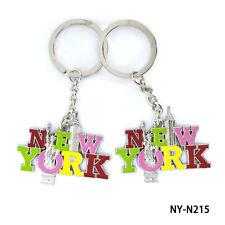 Lots of 12pcs NY Souvenir NEW YORK Liberty Freedom Tower Key Ring Key Chain #215