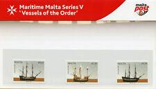 MALTA 2017 Gomma integra, non linguellato navi dell'Ordine MARITTIMA V 3 V PRES Pack BARCHE NAVI Stamps