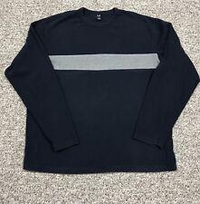 Mens XL Gap Long Sleeve Shirt Navy Gray EUC