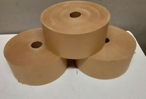 """3 Rolls Gummed Tape 2 1/2"""" x 600' Natural Color Water Activated Packing Shipping"""