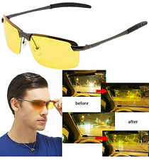 Night Vision Polarized Glasses Driving Aviator Sunglasses UV400 Eyewear Yellow