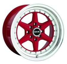 16X8 XXR 501 WHEELS 4X100/114.3 RIMS +15MM RED