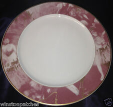 """ROSENTHAL CONTINENTAL R2748 12 1/8"""" SERVICE PLATE CHARGER PINK RIM EPOQUE"""