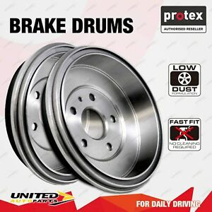Pair Rear Protex Brake Drums for Toyota Starlet EP91 ABS 1/96 - on