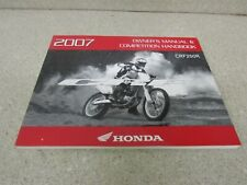 A//CE Honda 2012 CRF450R Owner Manual /& Competition Handbook 12