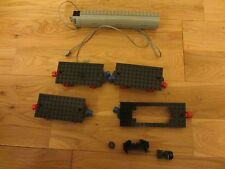 VINTAGE LEGO 3 MAGNETIC BLACK TRAIN BASE PLATES & 1 CARRIAGE PLATE & MOTOR ETC