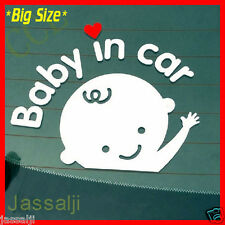The Reflective Cute Baby in car waving hands On Board On Board Decal Sticker