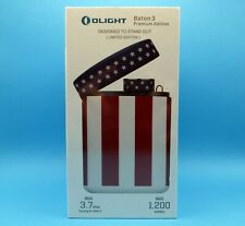 OLIGHT Baton 3 (Patriotic Edition) With Premium Charging Case Limited 1 of 3000