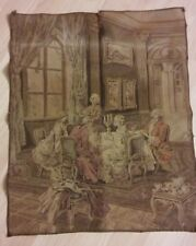 Vintage Belgium Tapestry - French Provincial Parlor Setting Sewn Fabric Panel