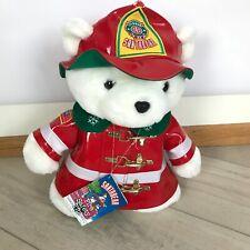 Vintage Santa Bear Dayton Hudson Firefighter 1996 with tag