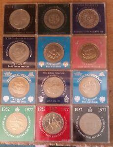 GB 5 shillings Crown 25 Pence 1951 - 1981 In Ridig Capsule Discounts to 30% av