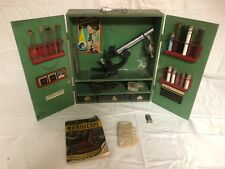 1938 Gilbert Microscope Set With Wood Box