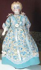 1905 ~ Blonde German China Shoulderhead Doll . Lovely