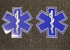Magnet sign Star Of Life x2 Pair  Event First Aid Medic Ambulance 250mm SOL