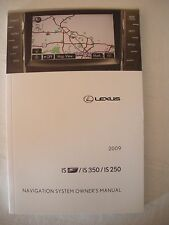 2009 Lexus ISF IS250 IS350 Navigation System Owner User Manual Guide Book
