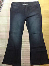"""Womens Blue Bootcut Faded Jeans 36"""" waist Distressed Slimming Flattering Design"""