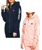 ellesse Womens Serinatas Zip Hooded Retro Logo Sport Sweatshirt Ladies Sweat Top