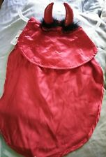 New Bootique Devil's Advocate Cape Horns Halloween Dog Costume Red L/XL