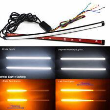 2*Switchback Flowing Car DRL LED Knight Rider Turn Signal Brake Light Strip 30cm