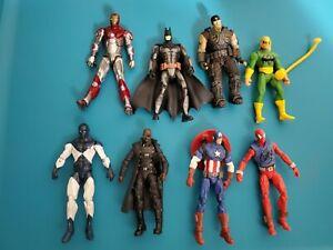 Marvel Universe 3.75 Scarlet Spider DC Batman Gears 12 figure Lot Loose