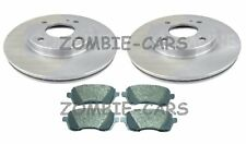 Ford Fiesta Mk7 Front Brake Discs & Pads 1.0, 1.25, 1.4, 1.6 2008 - 2018 Vented