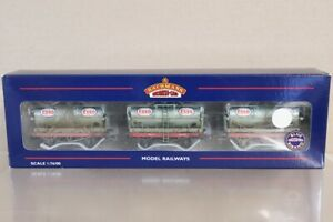 BACHMANN 37-668 WEATHERED BR ESSO SILVER 14 TON TANK WAGON SET MINT BOXED ny