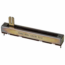 """Noble 200K Ohm Slide Potentiometer 2-1/2"""" Slide with Center Detent"""