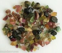 100CT SCOOP NATURAL MULTICOLOR TOURMALINE ROUGH GEMSTONE LOOSE LOT RAW WHOLESALE