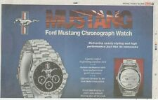 ford mustang chronograph watch newspaper advert