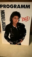 MICHAEL JACKSON TOUR-PROGRAMM BAD