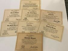 Lenox Collectibles Assortment of Certificates of Authenticity (See photos)
