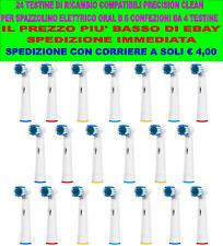 24 TESTINE PRECISION CLEAN COMPATIBILI ORAL B SPAZZOLINO ELETTRICO