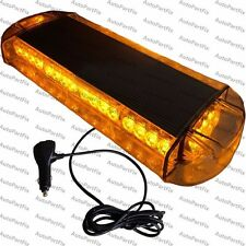 21 inch Amber Construction Roof Warn Strobe LED Light Bar Overhead Magnetic