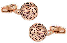 Swarovski Rose Gold Caged Pearl in Burgandy Direct from Cuff-Daddy