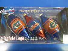 Florida Gators SEC NCAA College Christmas Tree Gift Glass Teardrop Ornaments