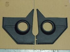 1967 1968 MUSTANG BLACK SPEAKER KICK PANEL PAIR, MADE IN USA