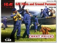 ICM 48081 WWII RAF Pilots And Ground Personnel Scale Plastic Model Kit 1/48