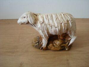 HANDMADE POTTERY SHEEP FIGURE - STUDIO POTTERY