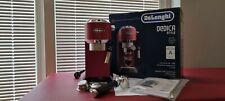 DeLonghi Espresso-Maschine DEDICA Style EC 685.r rot Gebrauch