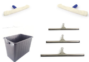 EXPERT PROFESSIONAL WINDOW CLEANING STAINLESS STEEL SQUEEGEE SOFT APPLICATOR