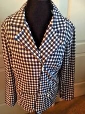 Chico's NWT /long sleeve /moto style jacket /navy /white/sz 3