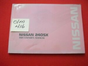 1989 OEM NISSAN 240SX S13-D MODELS OPERATING OWNER'S MANUAL GC
