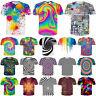 Xmas Women/Men Colorful Tie-Dye Hypnosis Funny 3D Print Casual T-Shirt Short Tee