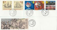 (93451) el aclaramiento GB FDC Christopher columbusliverpool Cds 7 de abril de 1992