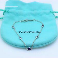 8ceb86462 Tiffany & Co Elsa Peretti Platinum Sapphire Color by the Yard Bracelet 0.55  tcw