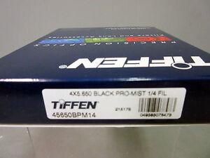 """New Tiffen 4x5.65"""" Black Pro-mist 1/4 Filter 4x5.650 Filters MFR # 45650BPM14"""